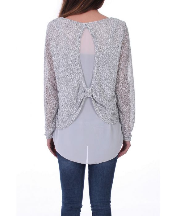 SWEATER 2 IN 1 BACK VALLEY 0517 GREY