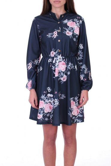DRESS 0530-BLUE NAVY