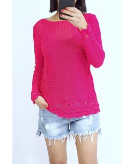 SWEATER KNIT 0509 FUSHIA