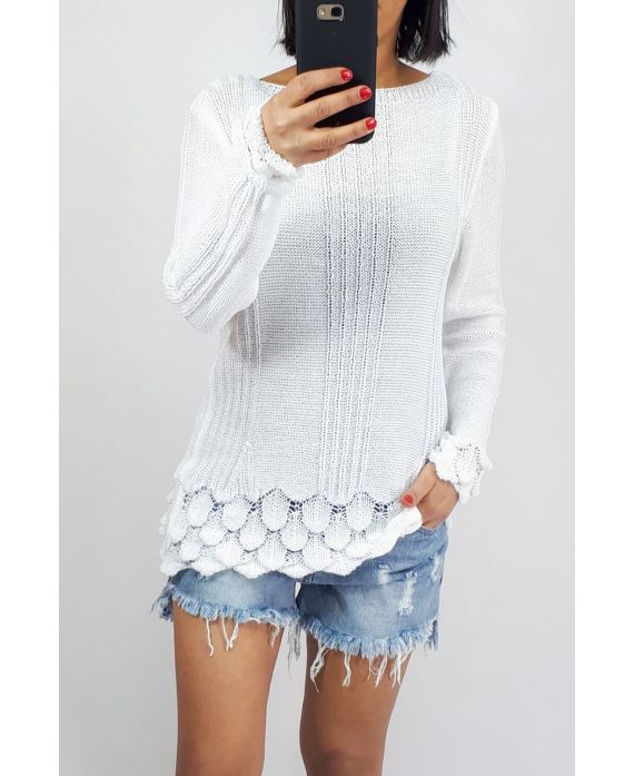 SWEATER KNIT 0509 WHITE