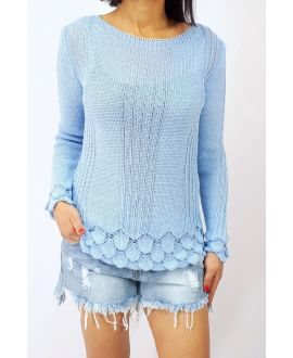SWEATER KNIT 0509 SKY BLUE