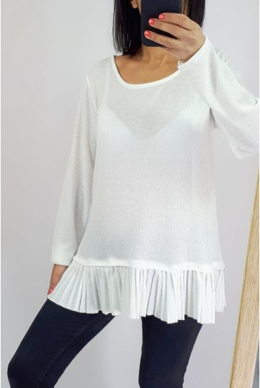 PULL BASE PLEATS 0506 WHITE