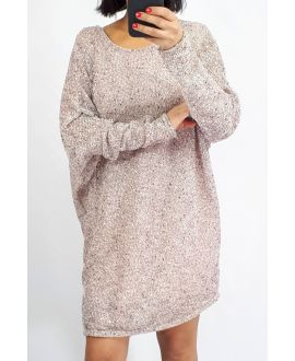 SWEATER, LONG-0512 PINK