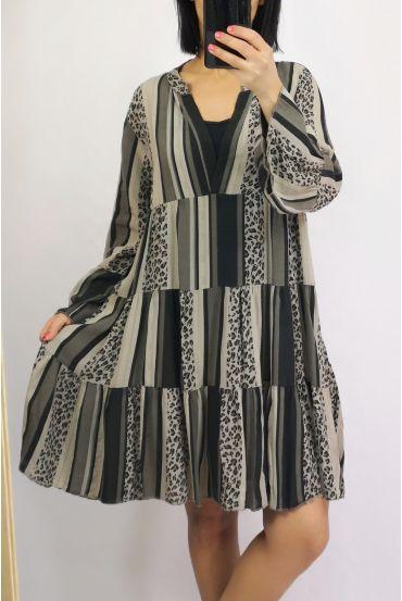DRESS 0233 BEIGE