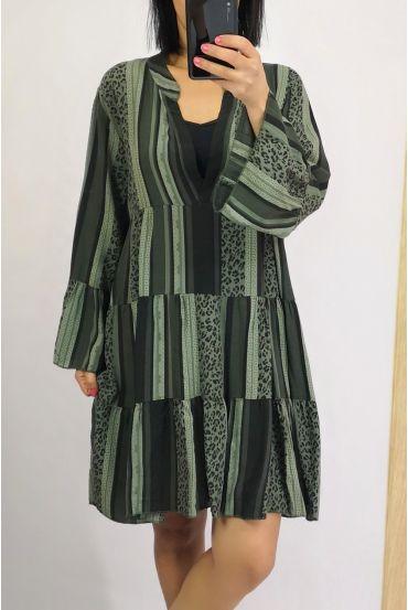 DRESS 0233 KHAKI