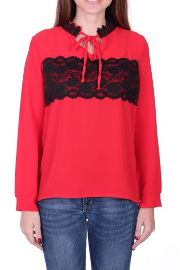 BLOUSE LACE 0525 RED