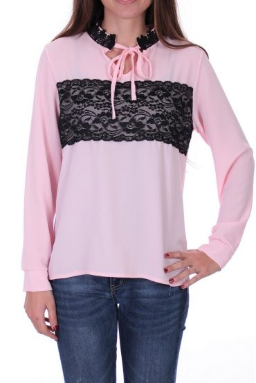 BLOUSE LACE 0525 PINK