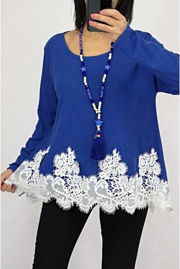 TOP BASE LACE 0534 BLUE SKY