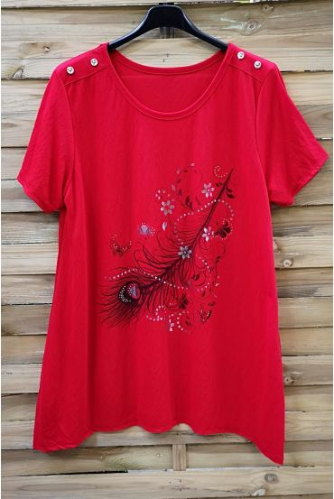 LARGE SIZE TUNIC PRINTED 0574 RED