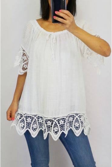 LACE TOP 0597 WHITE