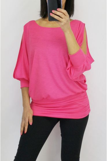 TOP SHOULDERS OPEN 0600 FUSHIA