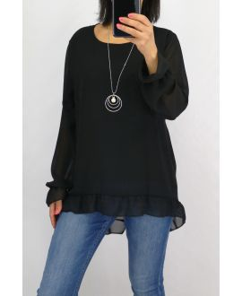TUNIC + NECKLACE 0520 BLACK