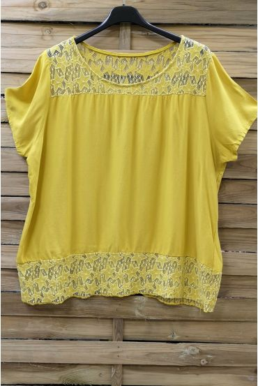 TOP WIDE LACE 0634 YELLOW