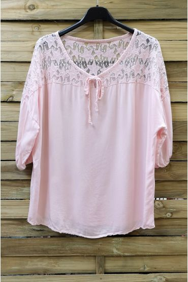BLOUSE LACE 0633 PINK
