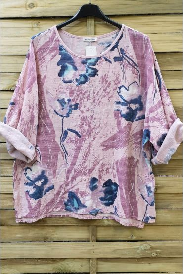 TUNIC BAGGY EFFECT LIN 0629 PINK