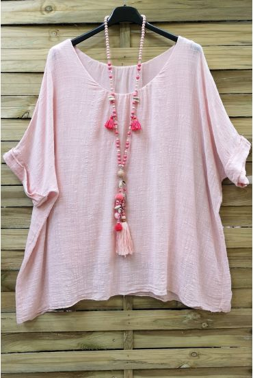 LARGE SIZE TOP COTTON DOUBLE 0638 PINK