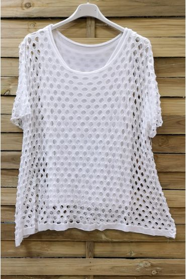 LARGE SIZE TOP AJOURE 2 PICES 0640 WHITE