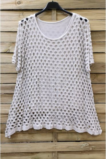 LARGE SIZE TOP AJOURE 2 PICES 0640 BEIGE