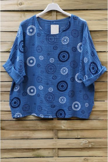 TUNIC PRINTED 0658 BLUE