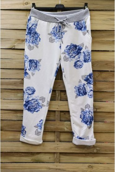 PANTS JOGG 0665 BLUE FLOWERS