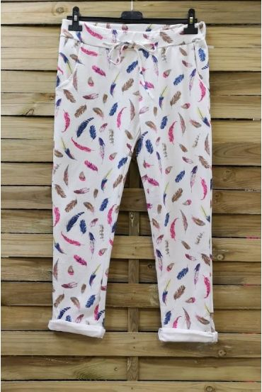 PANTS JOGG 0665 WHITE FEATHERS