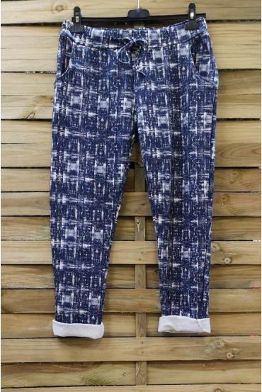 PANTS JOGG 0665 BLUE TACHETE