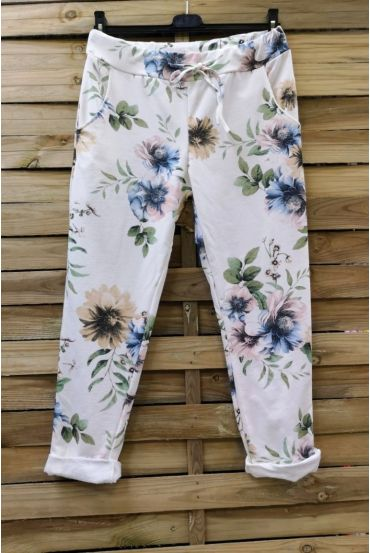 PANTS JOGG 0665 PINK FLOWERS