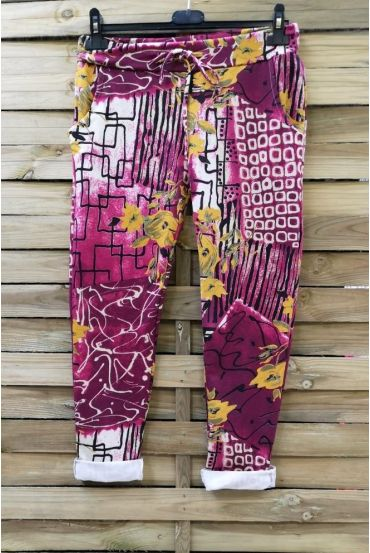 PANTS JOGG 0665 PRINTS BORDEAUX