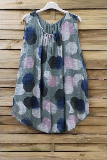 TOP WIDE PRINTS 0668 MILITARY GREEN