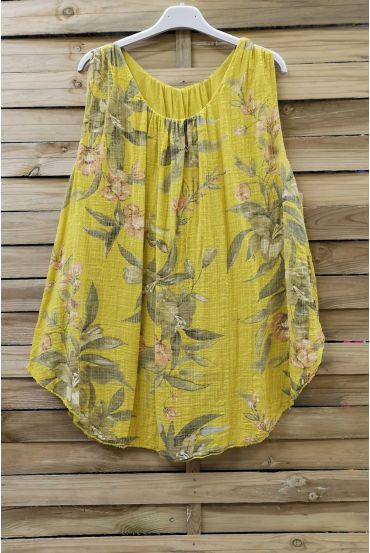 TOP WIDE PRINTS 0676 YELLOW