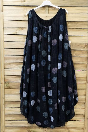 DRESS LOOSE-FITTING PRINTED 0673 BLACK