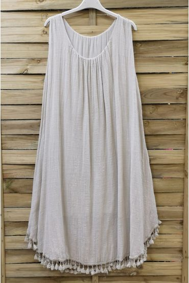 WIDE ROBE HAS FRINGES 0674 BEIGE