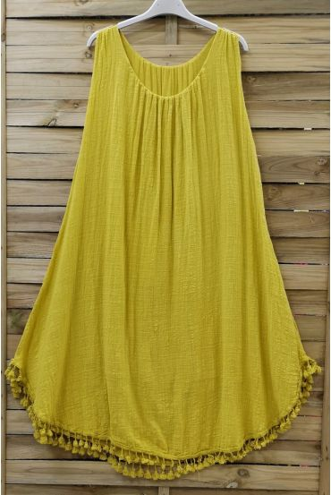 WIDE ROBE HAS FRINGES 0674 YELLOW