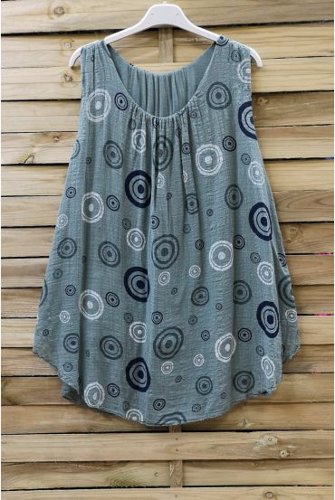 TOP WIDE PRINTS 0675 MILITARY GREEN