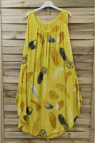 DRESS LOOSE-FITTING PRINTED 0670 YELLOW