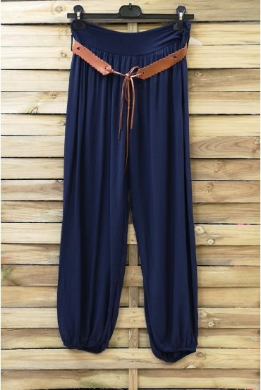 LOT 2 X PANTS + BELT 0690 NAVY BLUE