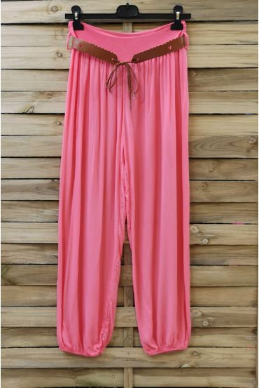 LOT 2 X PANTS + BELT 0690 CORAL