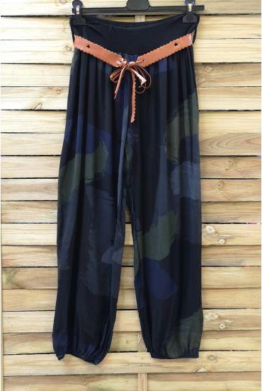 LOT 2 X PANTS PRINTED + BELT 0691 BLACK