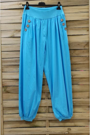 PANTS BUTTONS 0689 AZURE BLUE