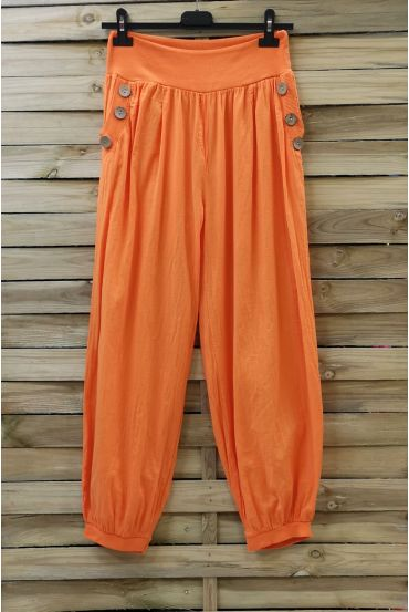 PANTS BUTTONS 0689 ORANGE