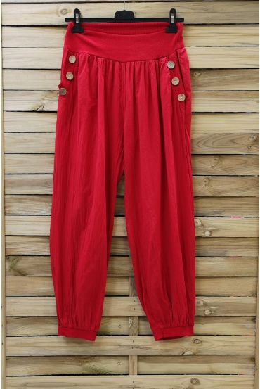 PANTS BUTTONS 0689 RED