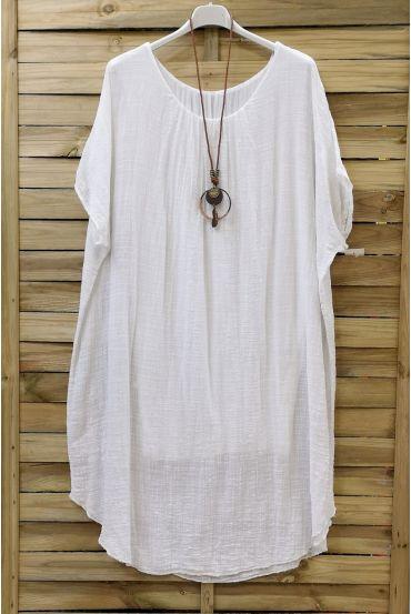 DRESS LOOSE-0678 WHITE