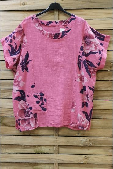 LARGE SIZE TUNIC PRINTED 0688 PINK