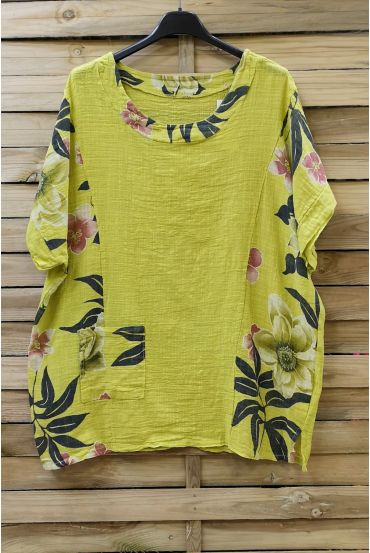 LARGE SIZE TUNIC PRINTED 0688 GREEN ANISE