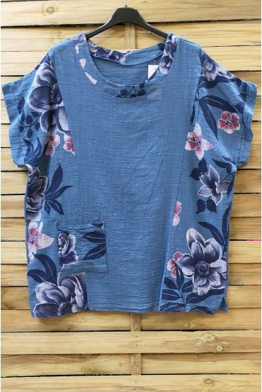 LARGE SIZE TUNIC PRINTED 0688 BLUE