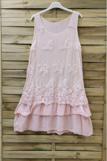 TUNIC DRESS LACE 0708 PINK