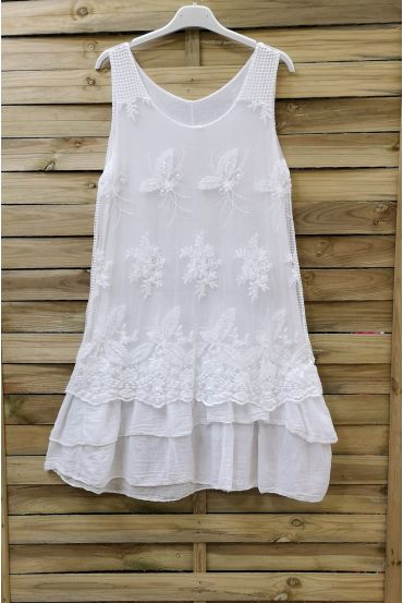 TUNIC DRESS LACE 0708 WHITE