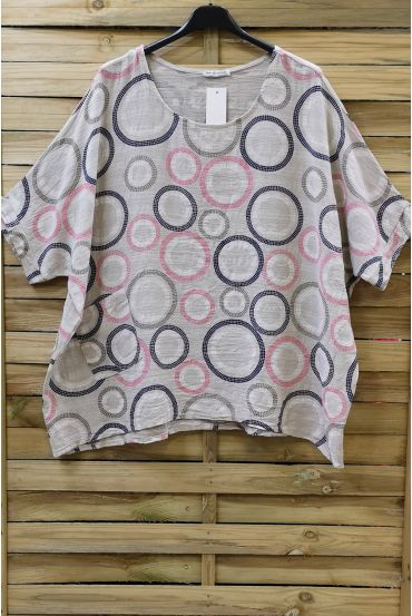 TUNIC LOOSE-FITTING PRINTED 0723 BEIGE