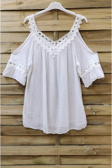 TUNIC SHOULDERS DENUDEES 0759 WHITE