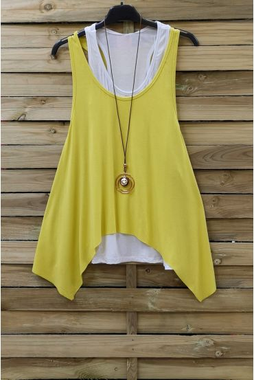 TOP 2 PIECES + NECKLACE 0808 YELLOW